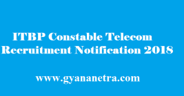 ITBP Constable Telecom Recruitment 2018