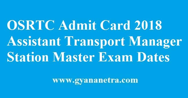 OSRTC Admit Card