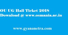 OU UG Hall Ticket 2018