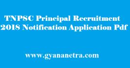 TNPSC Principal Recruitment 2018