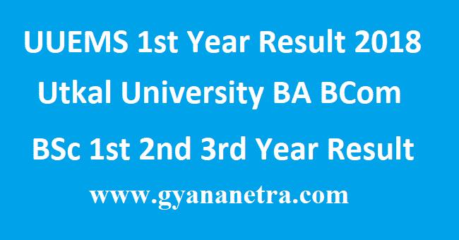 UUEMS 1st Year Result 2018