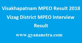 Visakhapatnam MPEO Result 2018