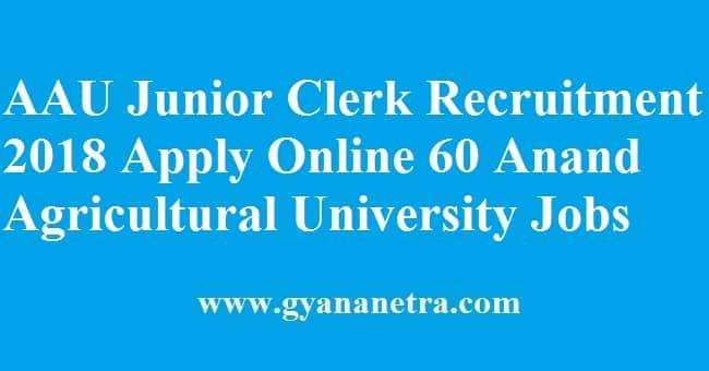 AAU Junior Clerk Recruitment