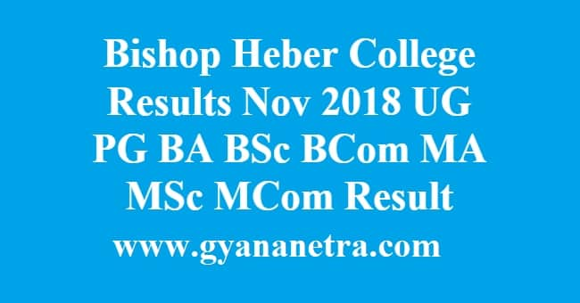 Bishop Heber College Results