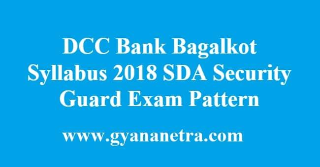 DCC Bank Bagalkot Syllabus
