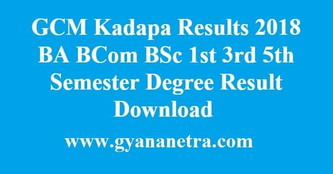 GCM kadapa Results