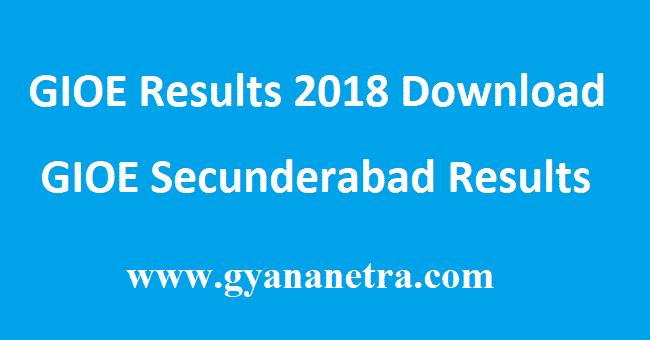 GIOE Results Oct Nov 2018