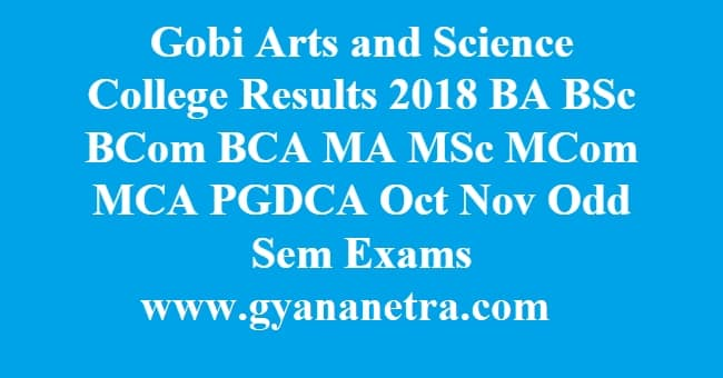 Gobi Arts and Science College Results