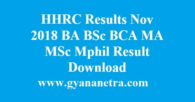 HHRC Results