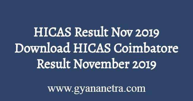HICAS Result Nov Dec 2019