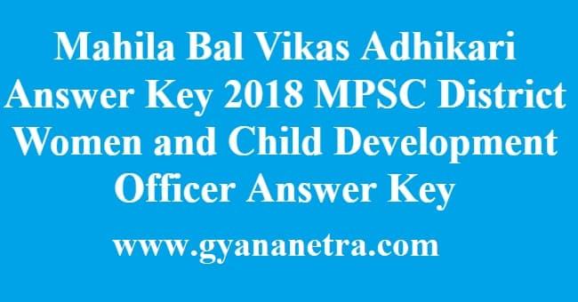 Mahila Bal Vikas Adhikari Answer Key