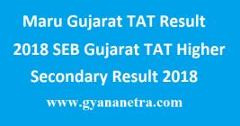 Maru Gujarat TAT Result 2018