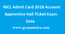NICL Admit Card 2018