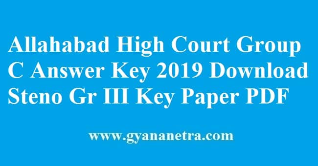 Allahabad High Court Group C Answer Key