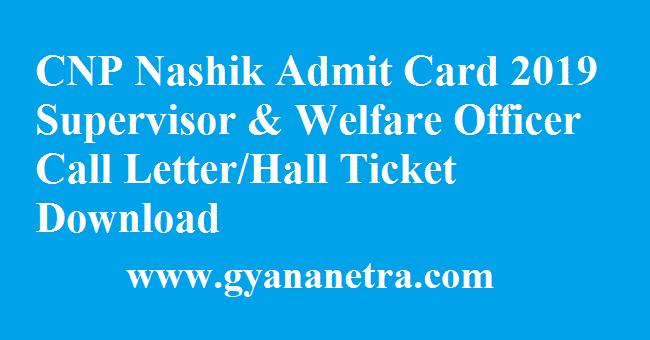 CNP Nashik Admit Card