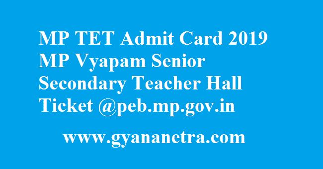 MP TET Admit Card