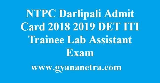 NTPC Darlipali Admit Card