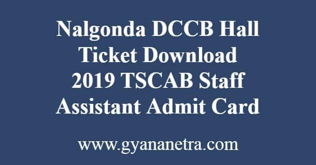 Nalgonda DCCB Hall Ticket Download
