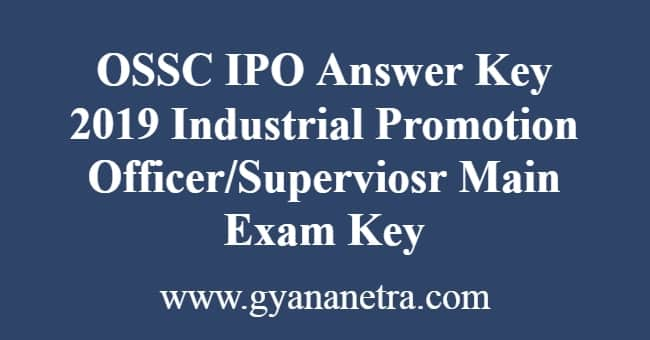 OSSC IPO Answer Key