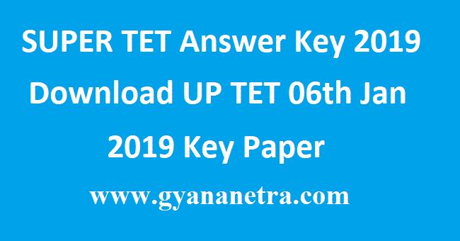 SUPER TET Answer Key 2019