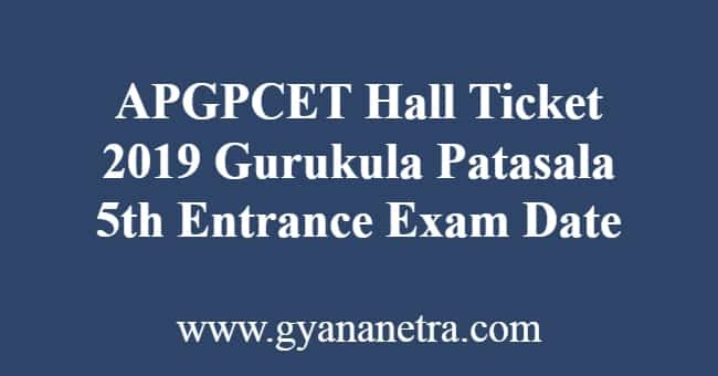APGPCET Hall Ticket