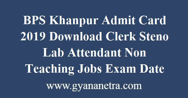 BPS Khanpur Admit Card