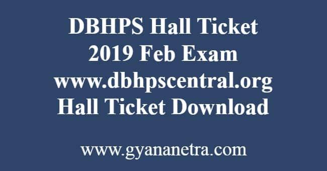 DBHPS Hall Ticket
