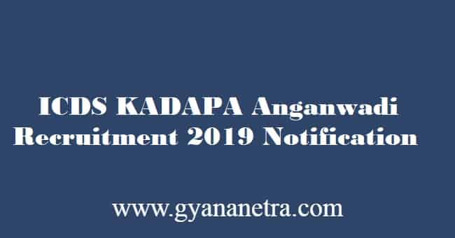 ICDS Kadapa Anganwadi Recruitment 2019
