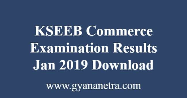 KSEEB Commerce Examination Results