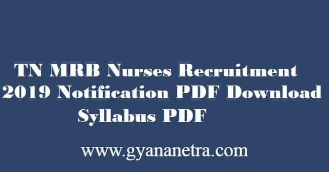 TN MRB Nurse Exam Syllabus