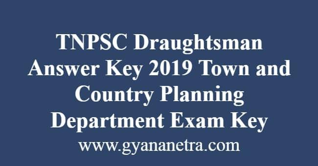 TNPSC Draughtsman Answer Key