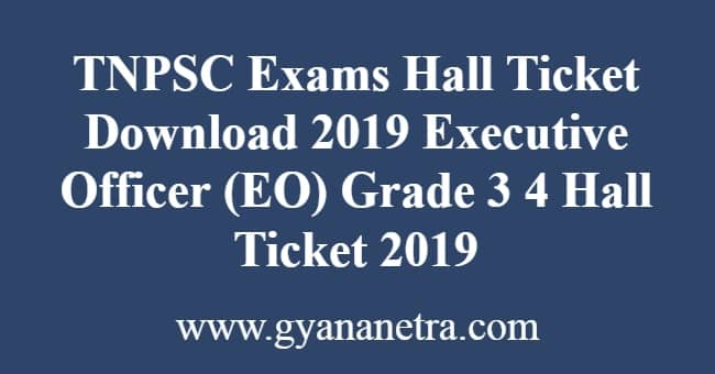 TNPSC Exams Hall Ticket Download