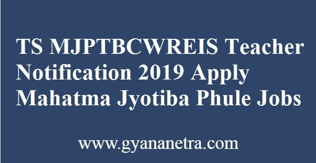 TS MJPTBCWREIS Teacher Notification