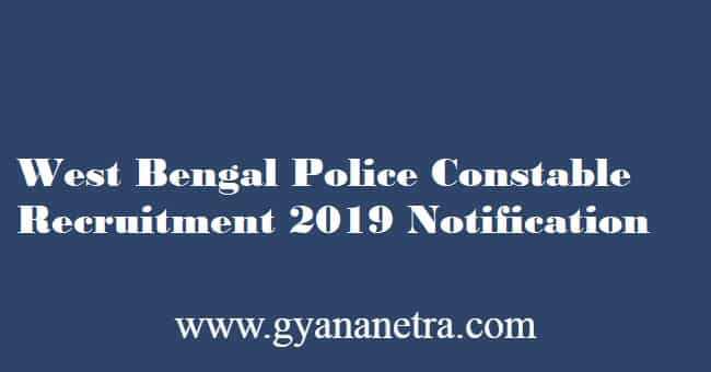 West Bengal Police Constable Recruitment 2019