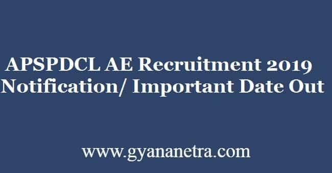 APSPDCL AE Recruitment 2019