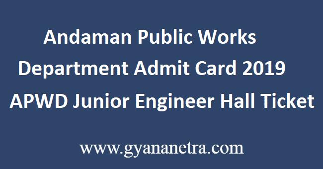 Andaman-Public-Works-Department-Admit-Card