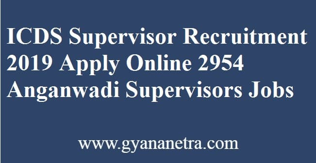 ICDS Supervisor Recruitment