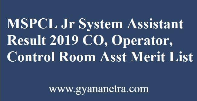 MSPCL Junior System Assistant Result