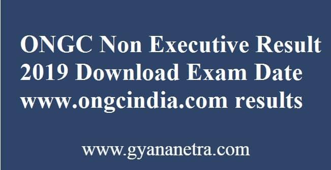 ONGC Non Executive Result