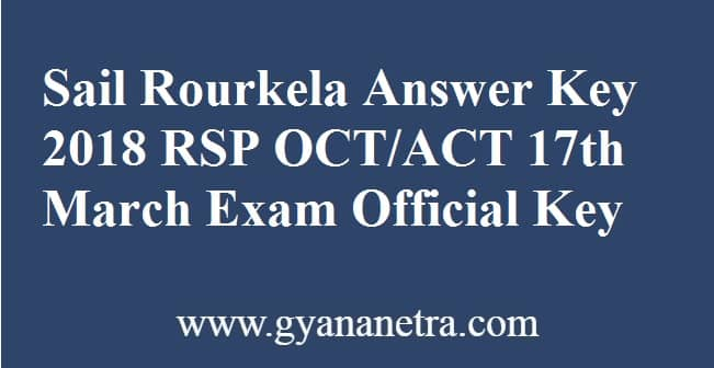 Sail Rourkela Answer Key