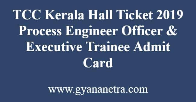 TCC Kerala Hall Ticket