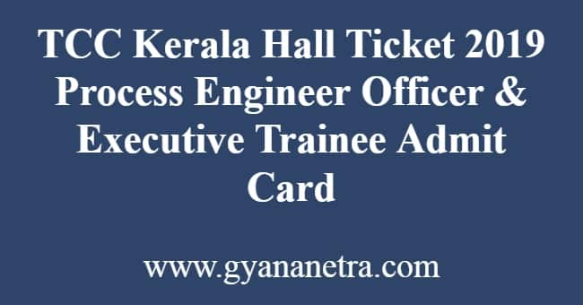 TCC Kerala Hall Ticket