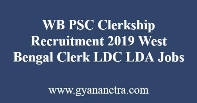 WB PSC Clerkship Recruitment