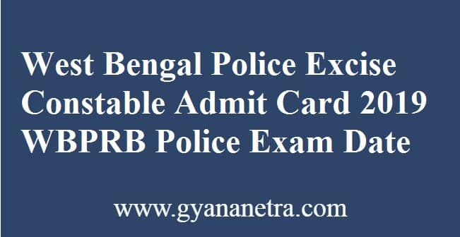 West Bengal Police Excise Constable Admit Card