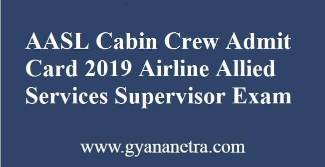 AASL Cabin Crew Admit Card