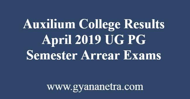 Auxilium College Results
