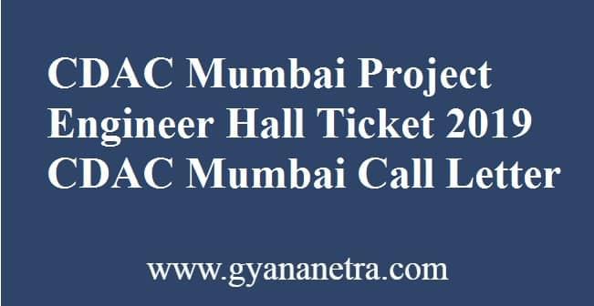 CDAC Mumbai Project Engineer Hall Ticket