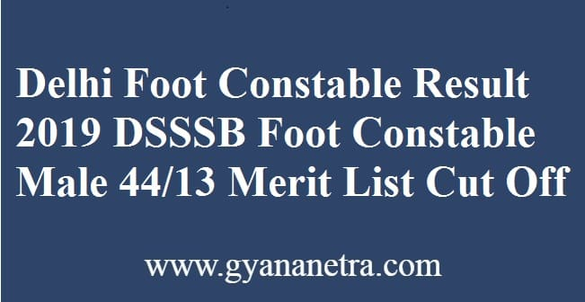 Delhi Foot Constable Result
