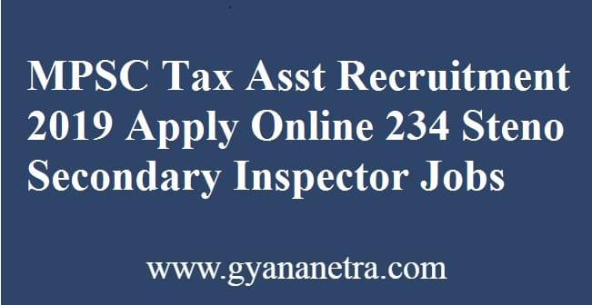 MPSC Tax Assistant Recruitment