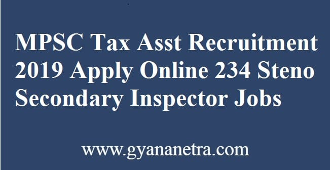 MPSC Tax Assistant Recruitment
